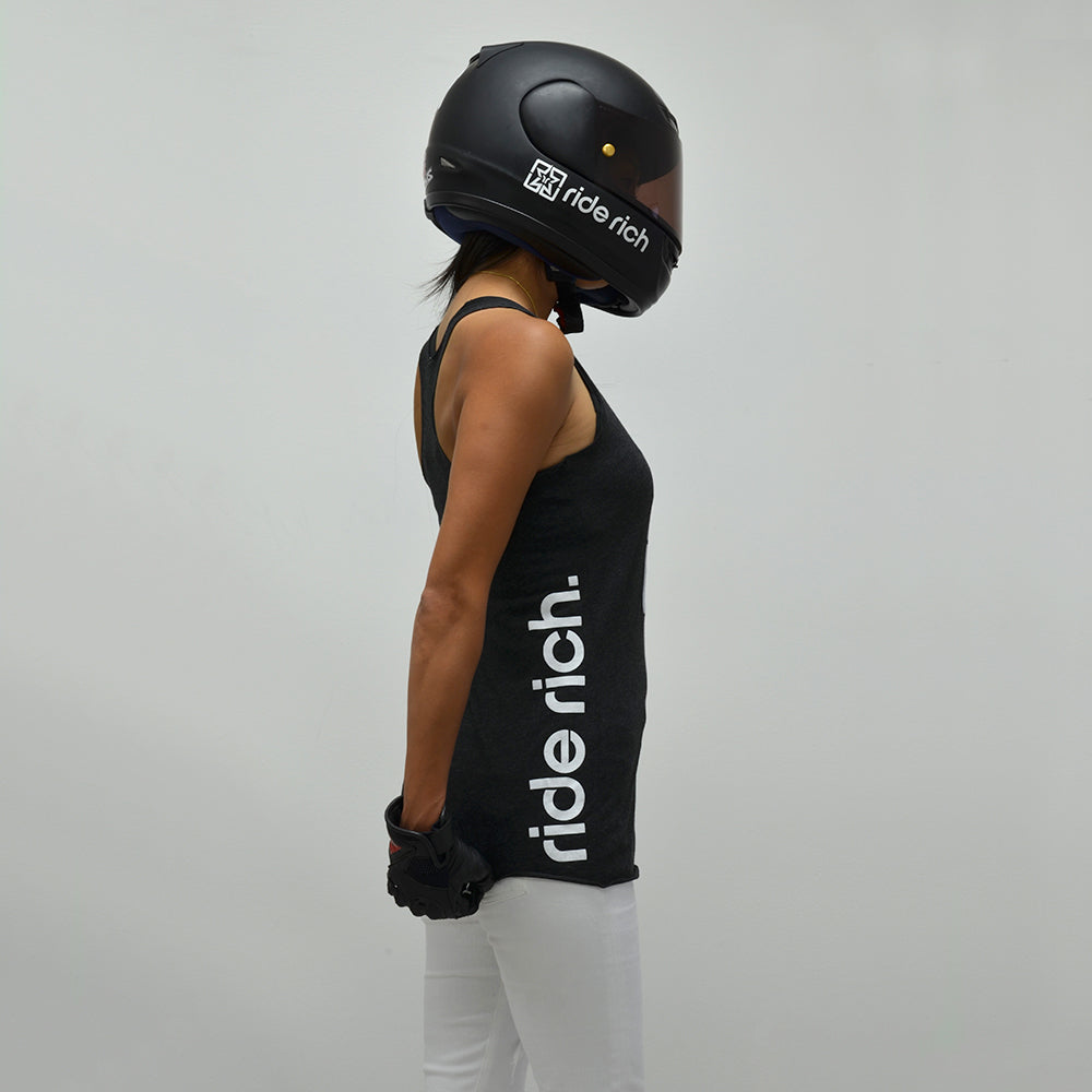 RR Emblem Racerback Tank {Black Heather}