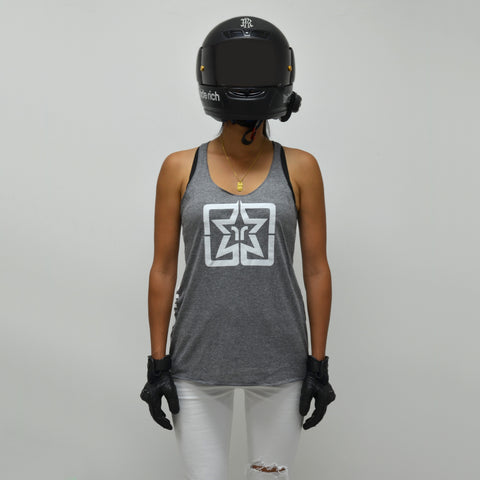 RR Emblem Racerback Tank {Heather Grey}