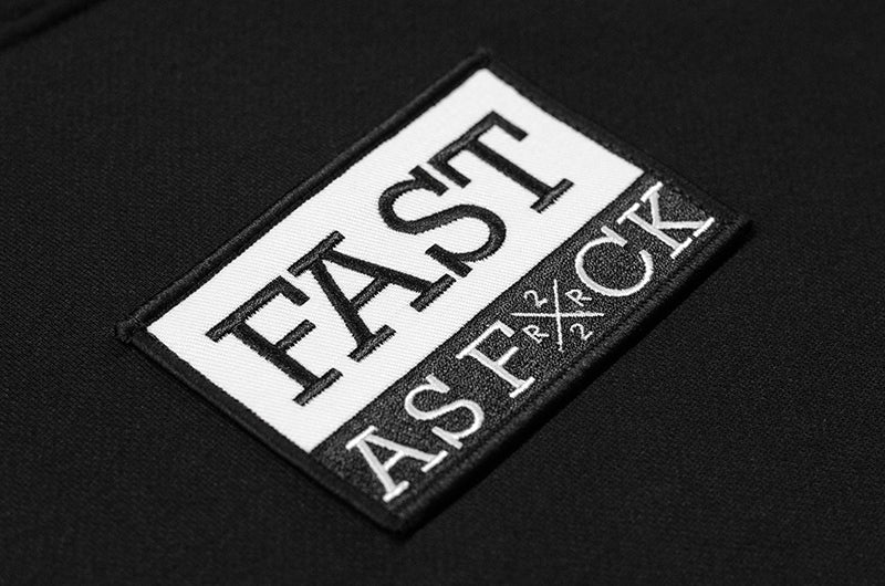 Been Fast Patched Scoop Pullover Hoodie