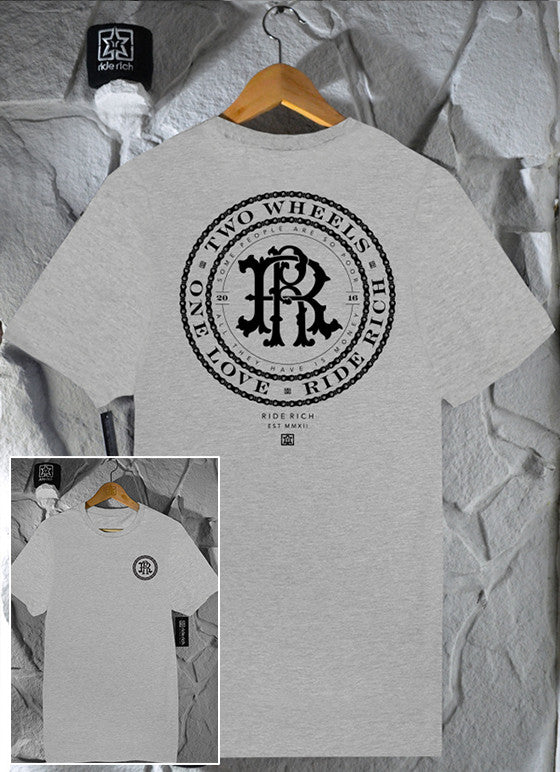 RR Filigree & Chains Tee {Athletic Heather}