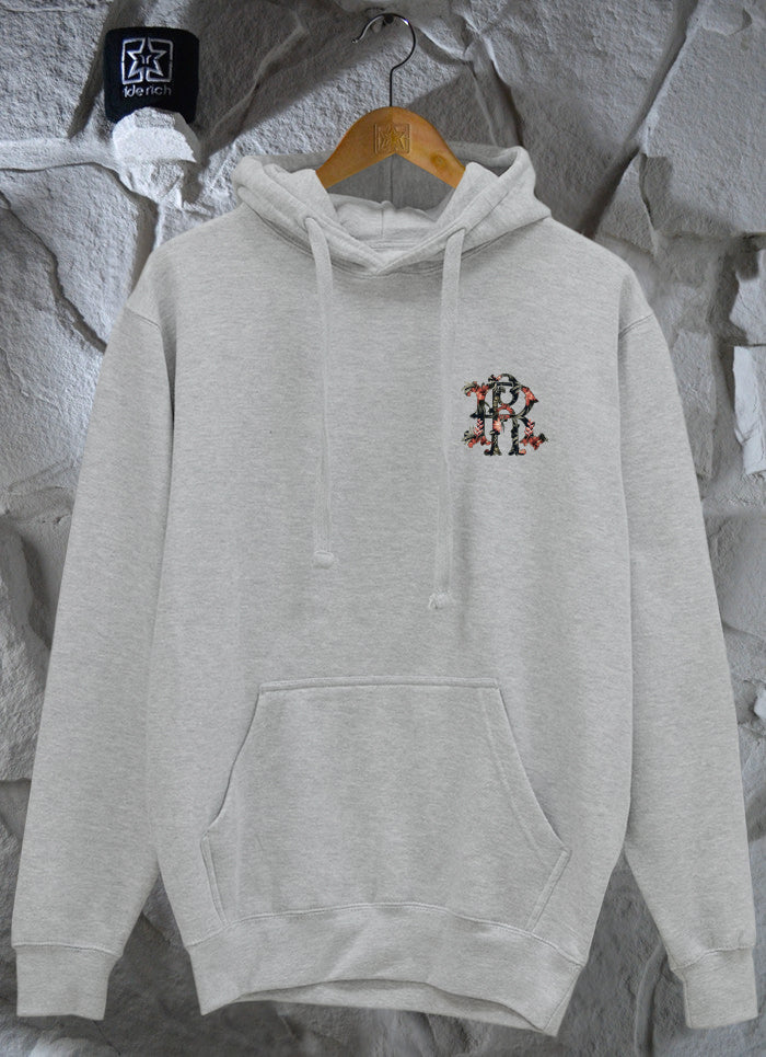 RR Filigree & Flowers Pullover Hoodie {Heather Grey}