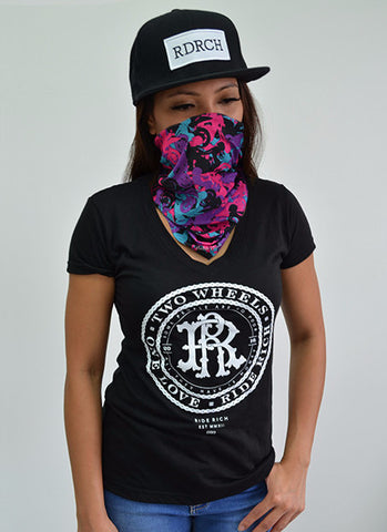 RR Filigree & Chains V-Neck Tee