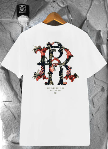 RR Filigree & Flowers Tee {White}