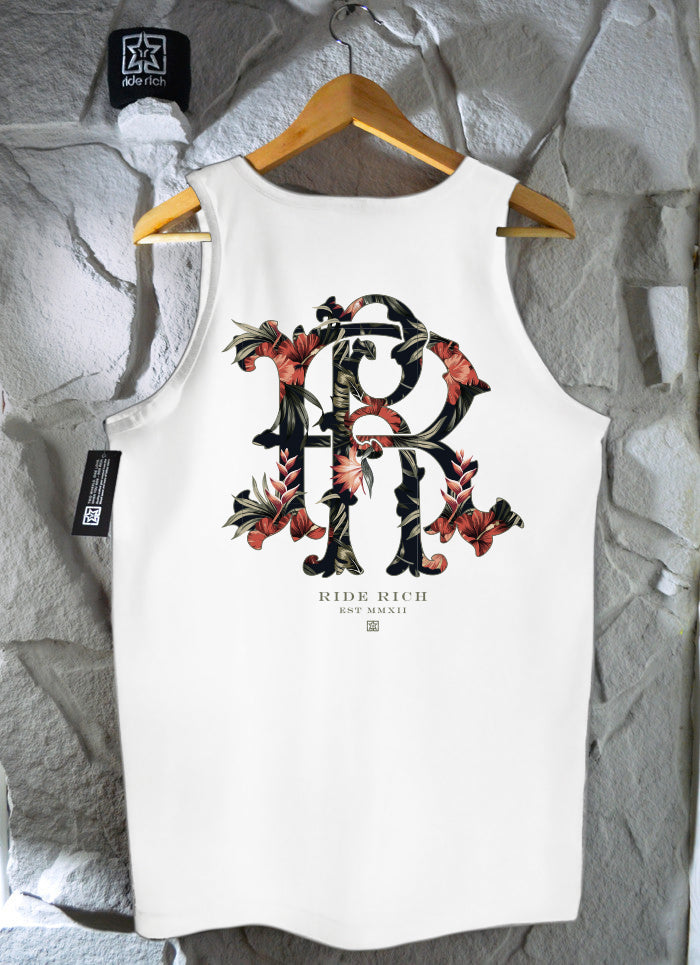 RR Filigree & Flowers Tank {White}