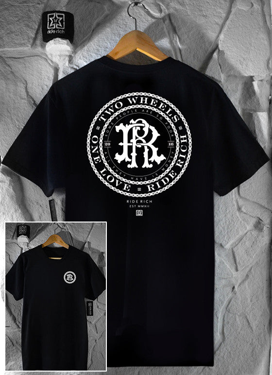RR Filigree & Chains Tee View 1 - Motorcycle T-shirt