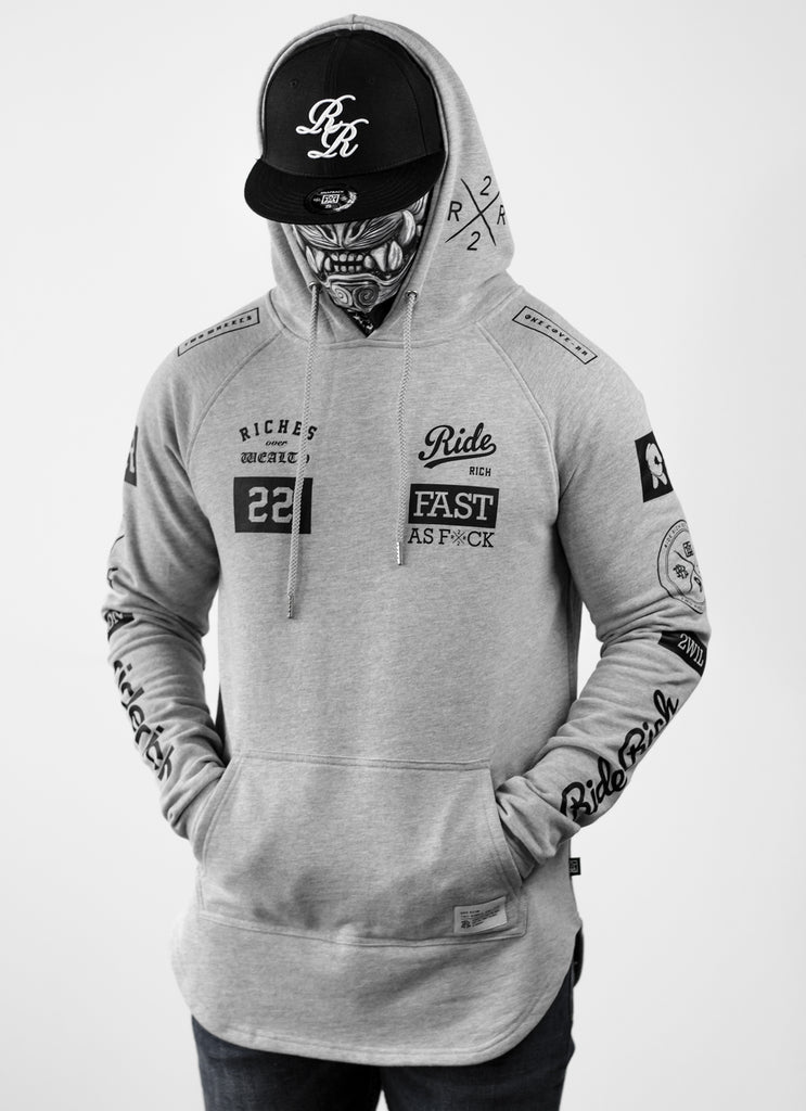 RR GP Scoop Pullover Hoodie {Heather Grey}