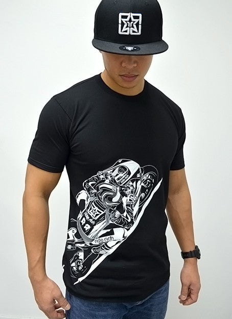 Gear Up & Ride Rich Tee View 3 - Motorcycle T-shirt