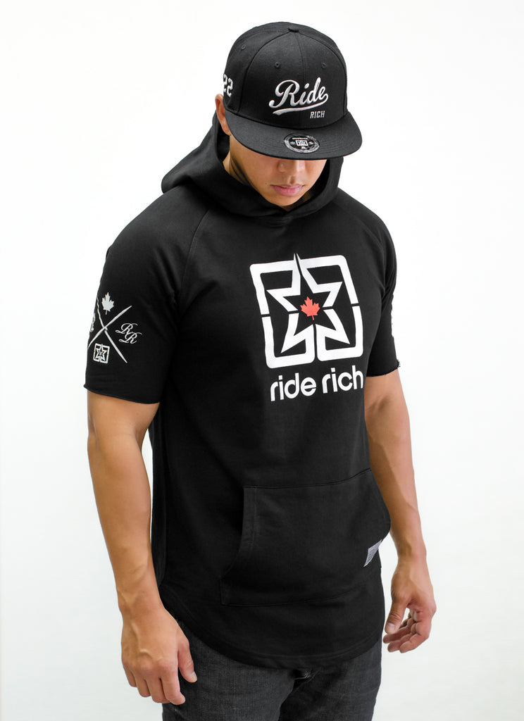 Home Grown Hooded Scoop Tee {Black}