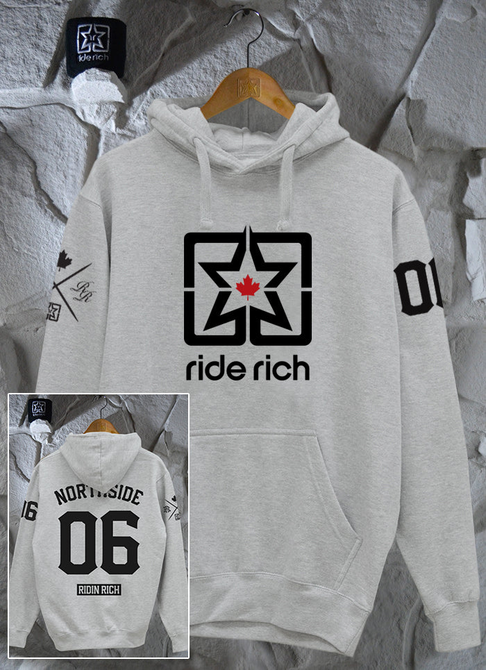 Ride Rich Home Grown Pullover Hoodie {Heather Grey}