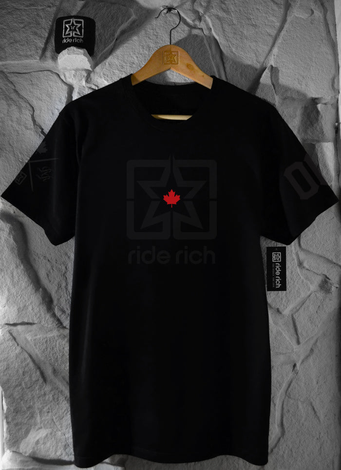 Ride Rich Home Grown Tee {Black on Black}