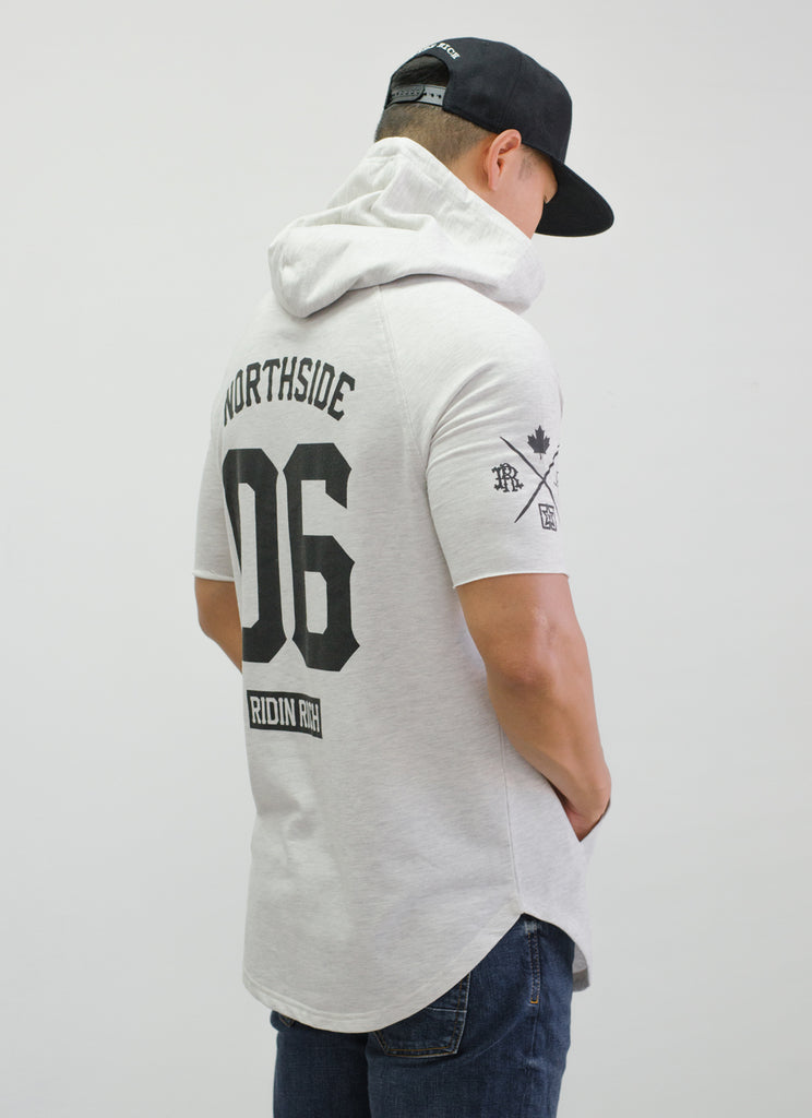 Home Grown Hooded Scoop Tee {White Heather}