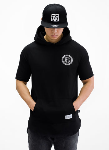 RR Filigree & Chains Patched Hooded Scoop Tee {Black}