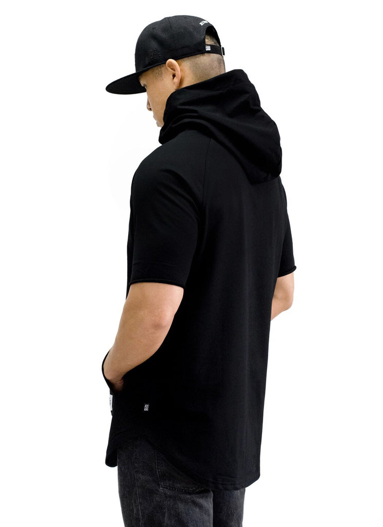 Ride Rich Tag {Paisley} Patched Hooded Scoop Tee {Black}