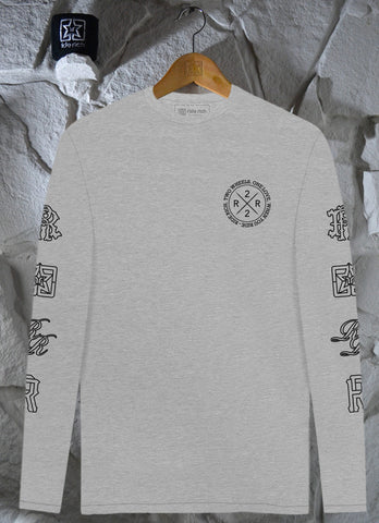 The Motto L/S Tee {Heather Grey}
