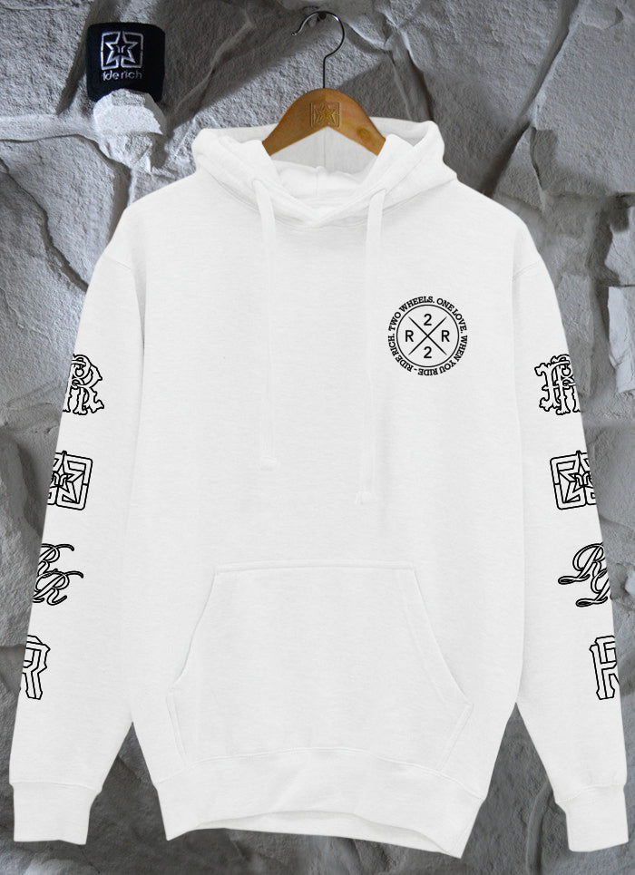 The Motto Pullover Hoodie {White}