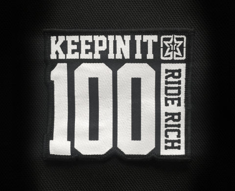 Keepin It 100 Patch - Motorcycle Accessories