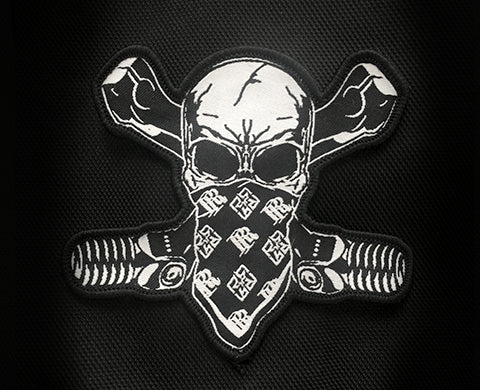 Chrome & Bones Patch - Motorcycle Patch