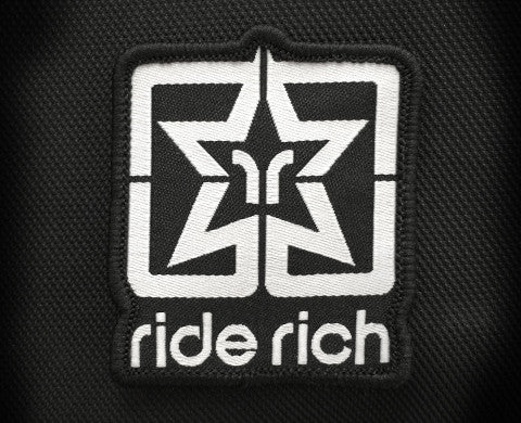 Ride Rich Logo Large Patch - Motorcycle Accessories