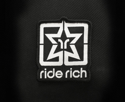 Ride Rich Logo Small Patch - Motorcycle Accessories