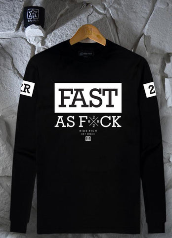 Been Fast Long Sleeve Tee View 1 - Motorcycle T-shirt