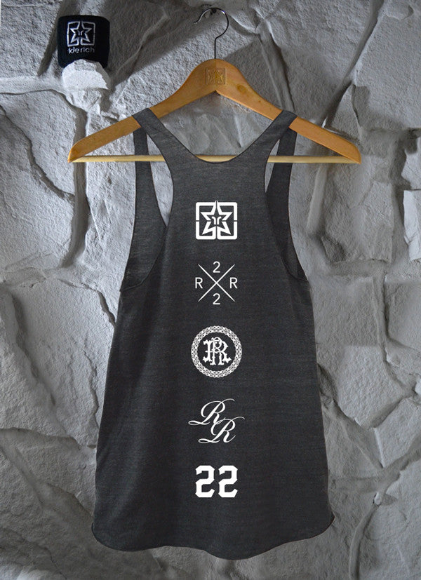 Drop A Knee Racerback Tank {Charcoal Grey}