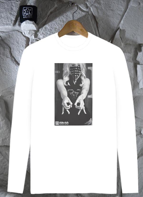 Ode To RR  White  Men s Motorcycle long sleeve T-shirt  bba79dd62