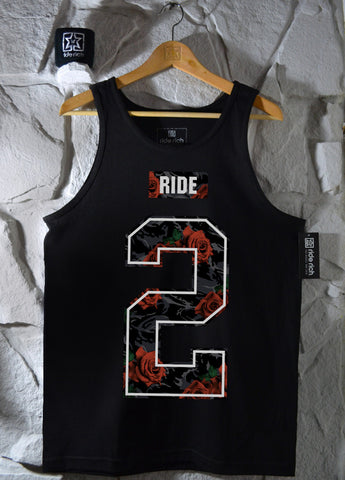 Too Rich Rose Camo Tank View 1 - Motorcycle Tank Top