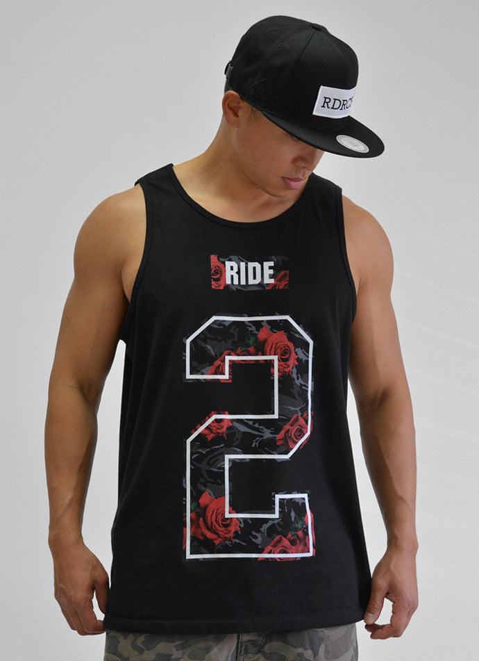 Too Rich Rose Camo Tank View 3 - Motorcycle Tank Top
