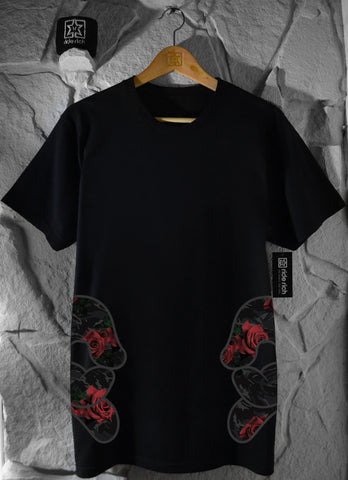Rep Roses On Two Tee View 1 - Motorcycle T-shirt