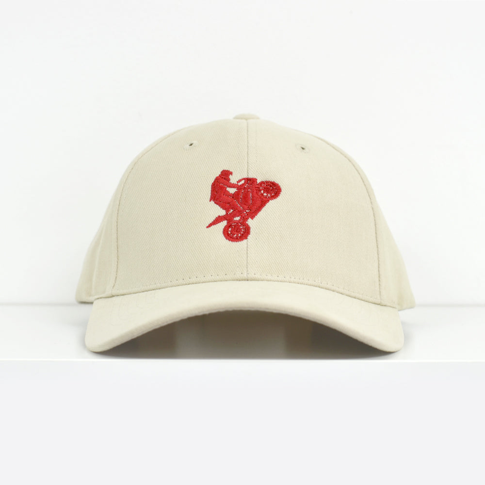 I Love Riding Khaki Dad Hat View 1 - Motorcycle Hat