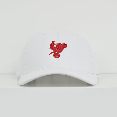 I Love Riding White Dad Hat View 1 - Motorcycle Hat