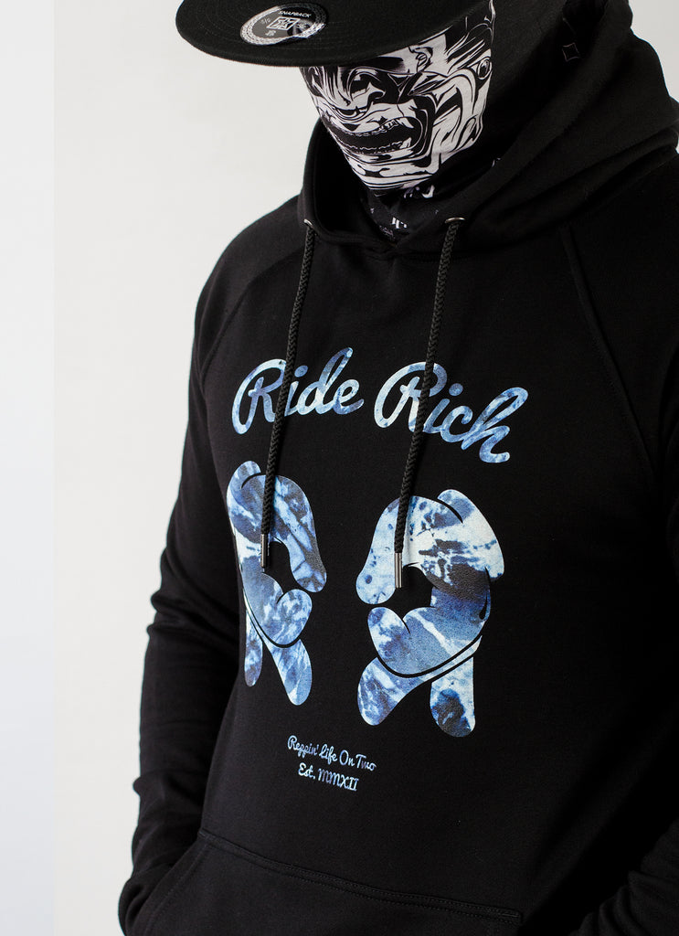 Rep Life On Two Shibori Scoop Pullover Hoodie