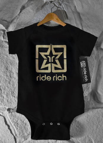 Gold Emblem Bodysuit / Onesy - Motorcycle Baby Clothing