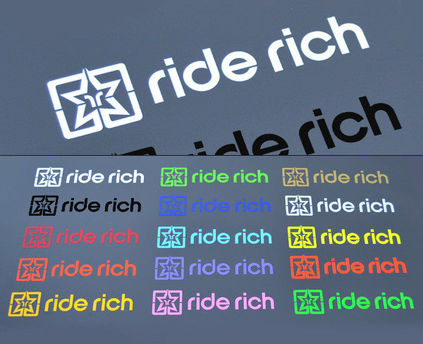 Ride rich vinyl decals view 1 custom motorcycle decals