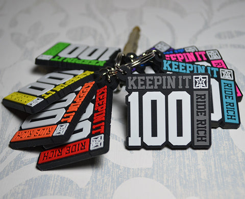Keepin' It 100 Keychain View 1 - Motorcycle Accesories