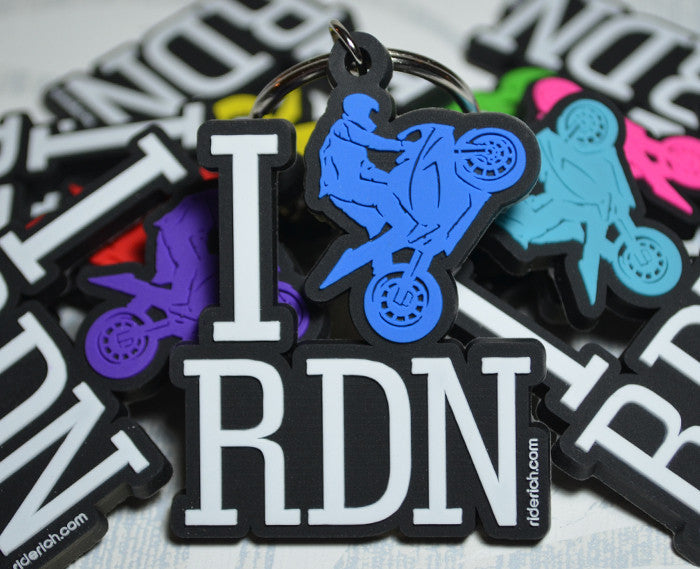 I Love RDN Keychain Blue - Motorcycle Accessories