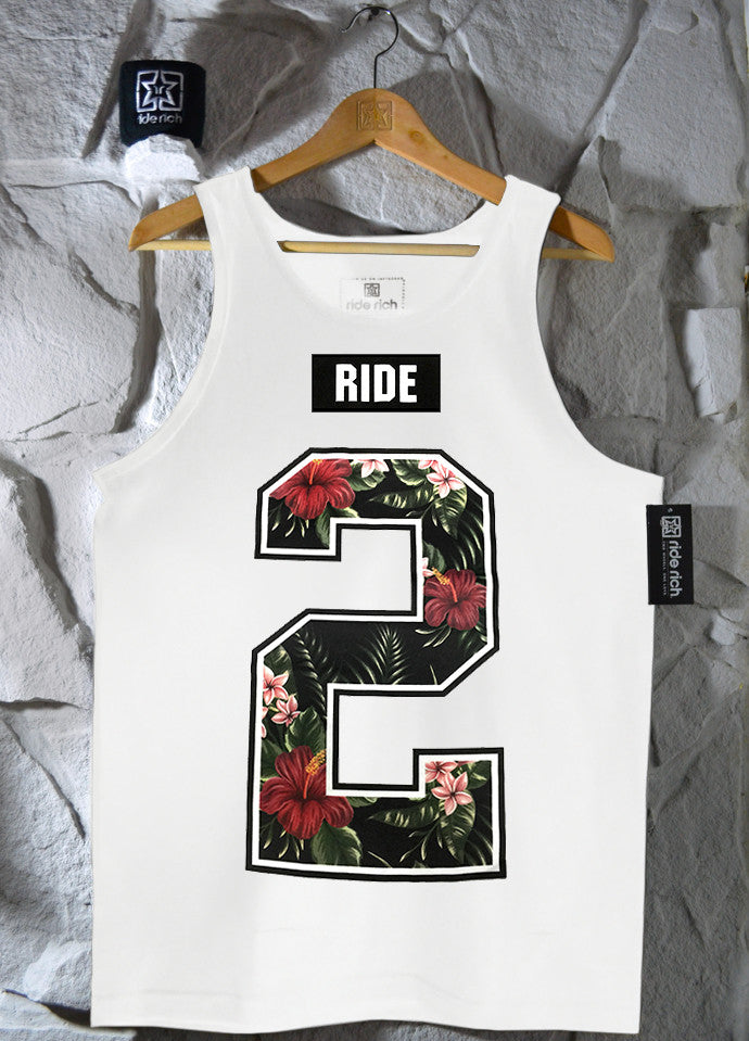 Too Rich Tank {White} View 1 - Motorcycle Tank Top