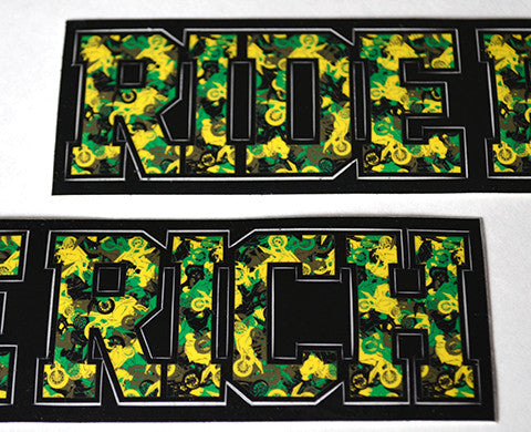 Camo Vinyl Sticker {Yellow/Green} View 1 - Motorcycle Decals