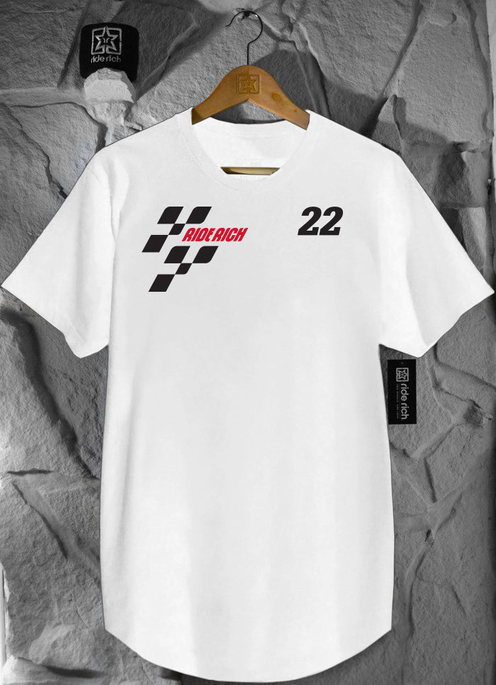 MotoRR Scoop Tee {White}