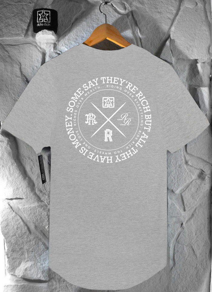 The Motto Scoop Tee {Heather Grey}