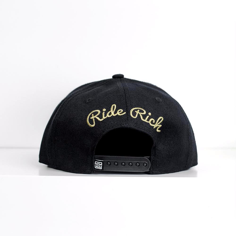 Rep Life On Two Snapback/Strapback {Gold on Black}
