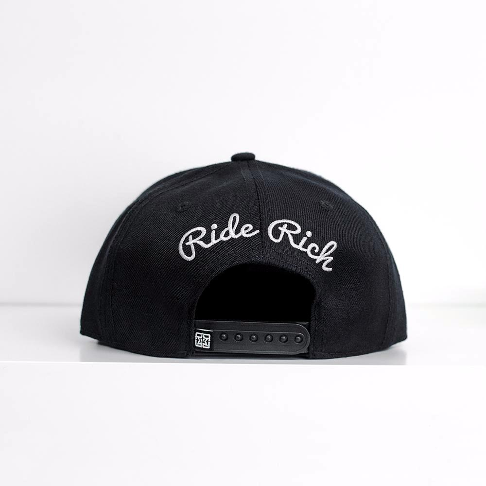 Rep Life On Two Snapback {White on Black}