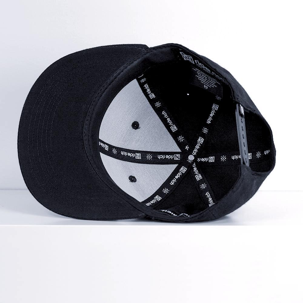 Emblem Snapback {White on Black}