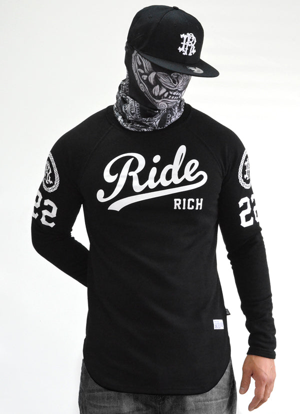 RR Squad Scoop Crew Neck Sweatshirt View 1 - Motorcycle Sweatshirt
