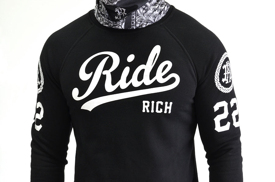 RR Squad Scoop Crew Neck Sweatshirt View 5 - Motorcycle Sweatshirt