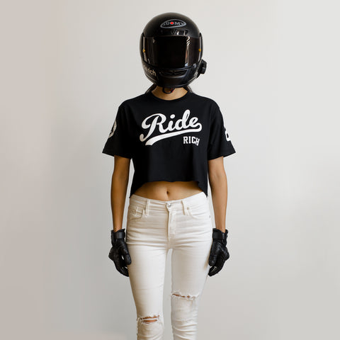RR Squad Crop Tee {Black}
