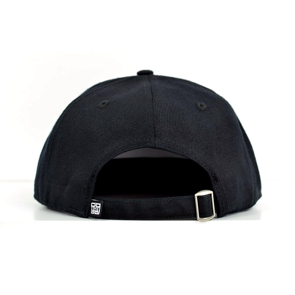 RR Squad Gold on Black Strapback View 4 - Motorcycle Hat
