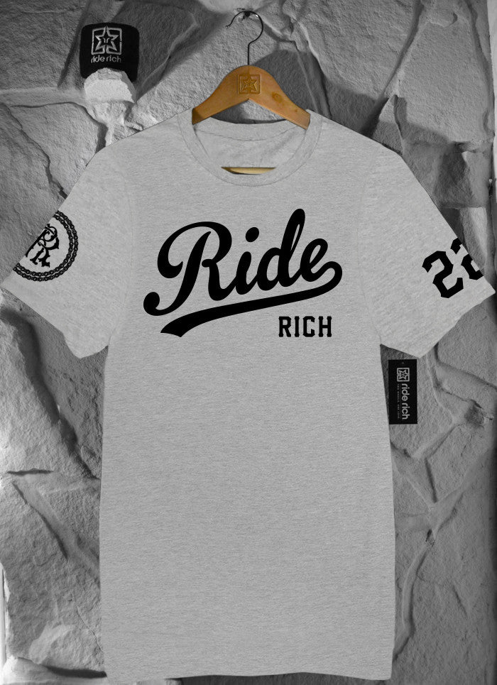 RR Squad Athletic Heather Tee View 2 - Motorcycle T-shirt