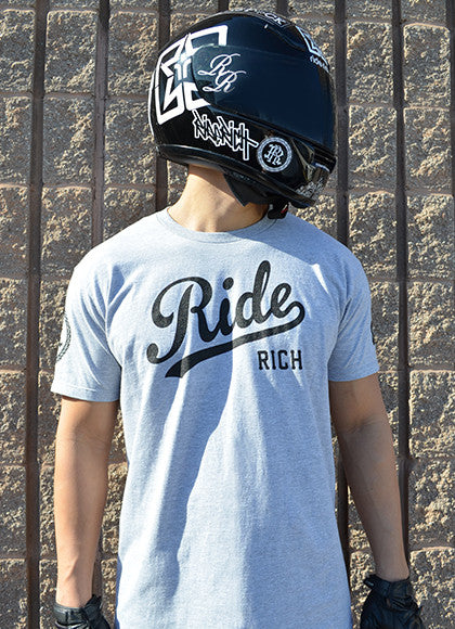 RR Squad Athletic Heather Tee View 6 - Motorcycle T-shirt