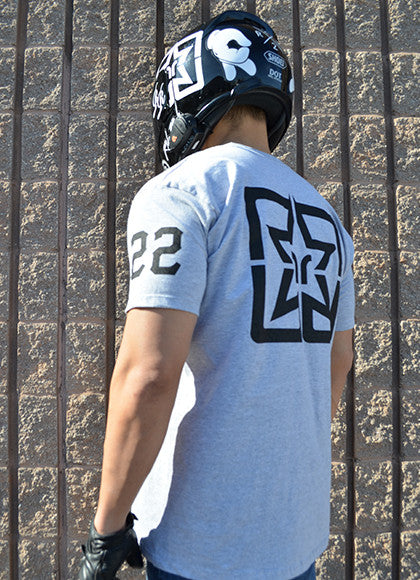 RR Squad Athletic Heather Tee View 5 - Motorcycle T-shirt